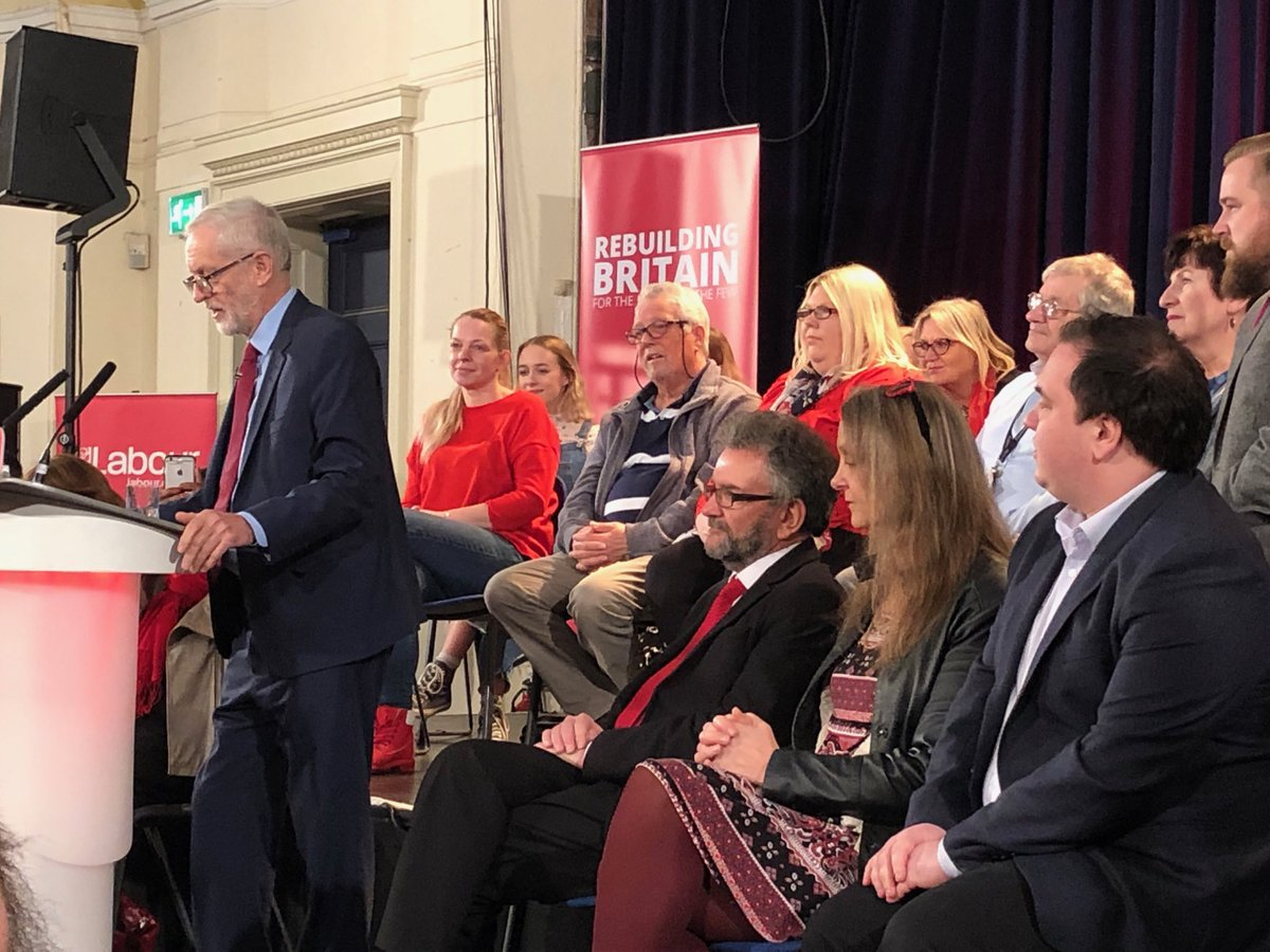 Corbyn takes questions from all main broadcasters in Hastings, except Channel 4 News