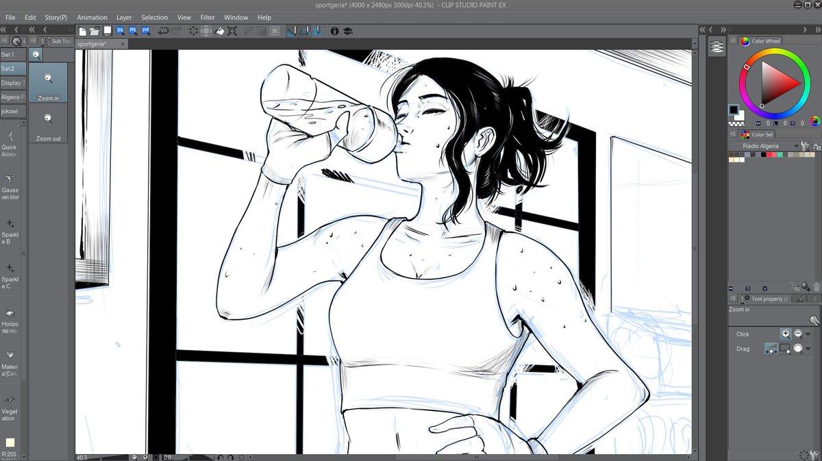 WIP. Workout in Progress. Ugh, I think I draw too slow 🤷♂️
