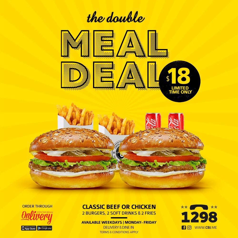 Classic Burger Joint على تويتر We Call It The Double Meal