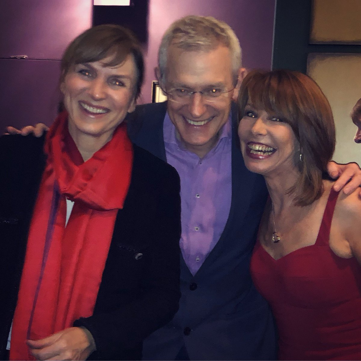 Fun night @Cirque with the magnificent woman of the moment #FionaBruce and the always fun @theJeremyVine   #RoyalAlbertHall @Sentebale