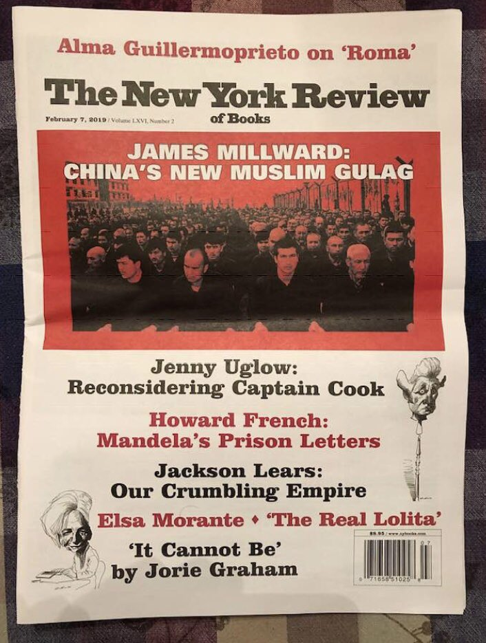 Another big cover story coming on China's mass internment and cultural cleansing program. This one by the great historian of Xinjiang, the Silk Road, and lutes, @JimMillward