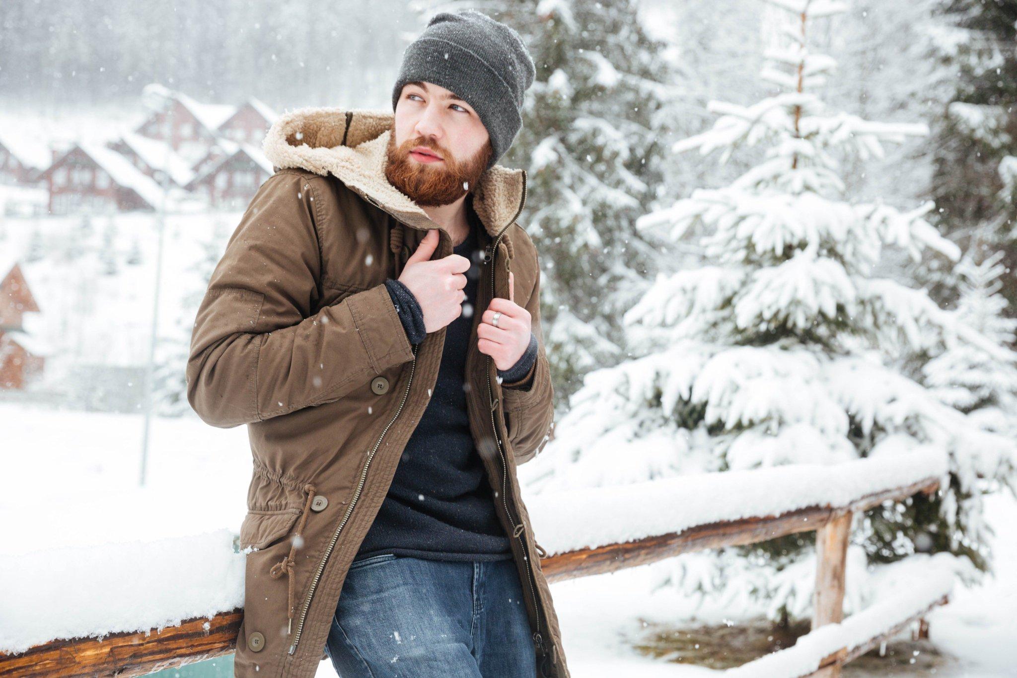 фото мужчина зимой в лесу этой темке наши
