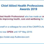 Image for the Tweet beginning: RT @DrSMarkham: #AHPs are you