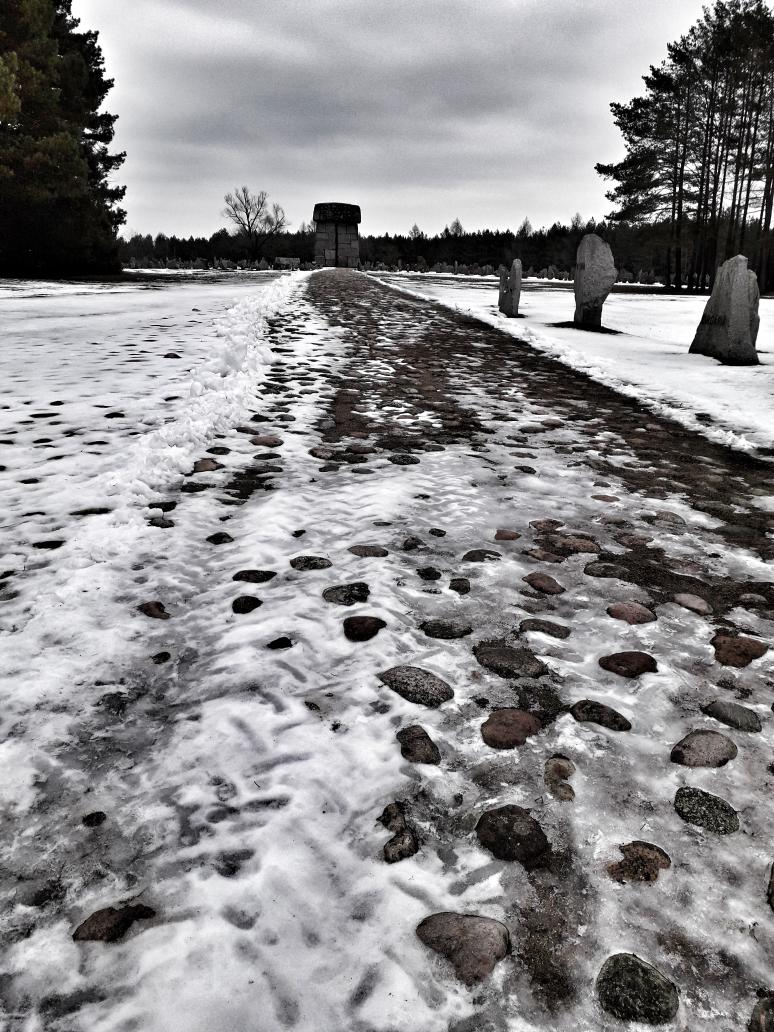 Treblinka Extermination Camp. The monument is on the site of the large gas chamber. Around 900,000 people were murdered here in just over a year. Unbelievably, all this was done by 20 - 25 German and Austrian SS men, supported by up to 120 guards, many of whom were Ukrainian.