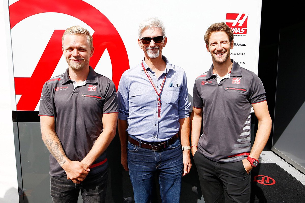 That time @HillF1 busted in on our 'Meet &amp; Greet' photos...  #HaasF1 #CanadianGP #Champ #F1 <br>http://pic.twitter.com/FIBCw9DCHR