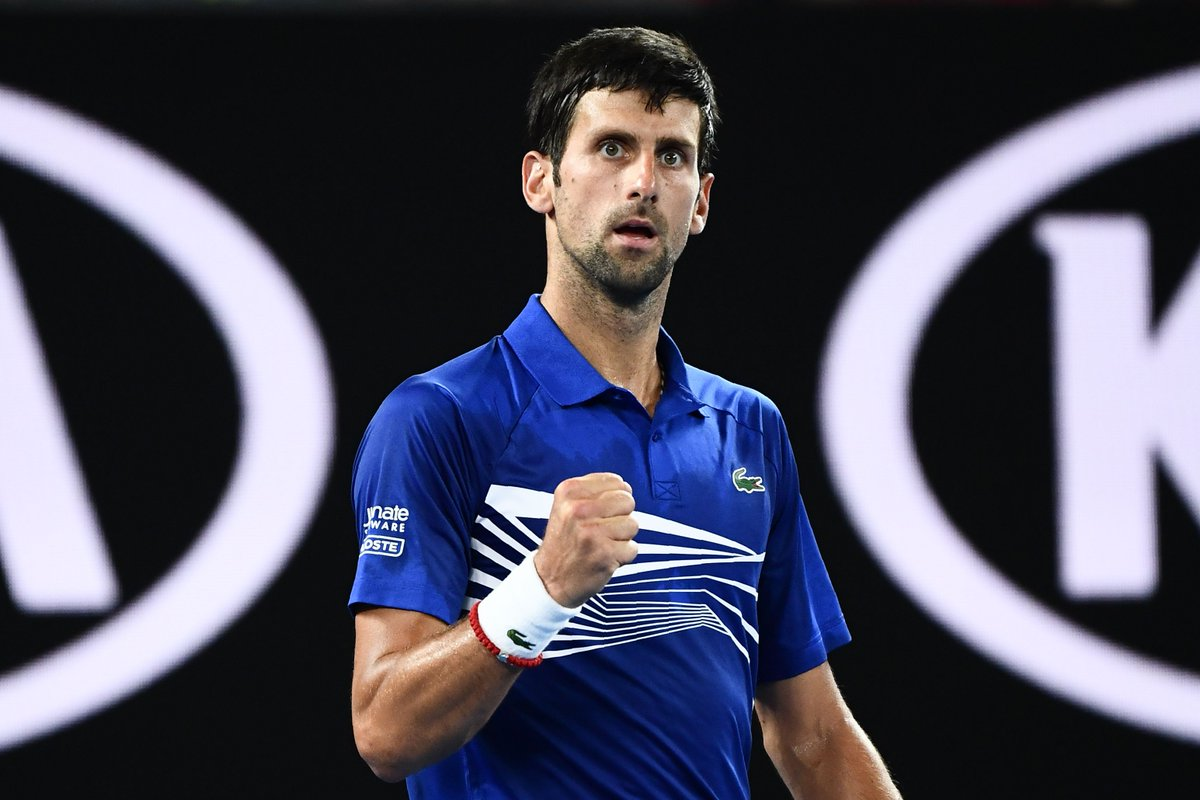 Never in doubt.  @DjokerNole def. Jo-Wilfried Tsonga 6-3 7-5 6-4 to advance to the 3R at the #AusOpen  for the th time.  #GameSetMatch <br>http://pic.twitter.com/daEdc1k1zD