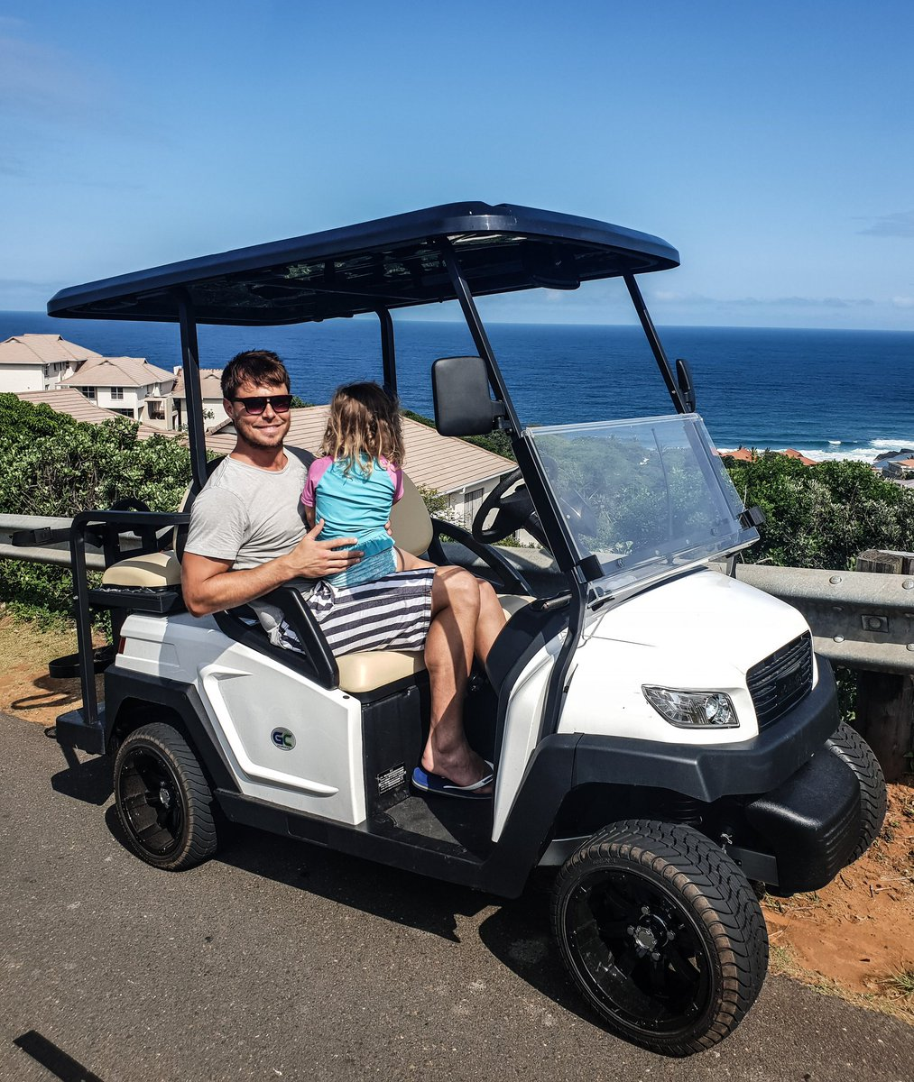 Enjoying the view with my girl... ❤ @GolfCarSA1 #golfcars #golfcarsa #ocean