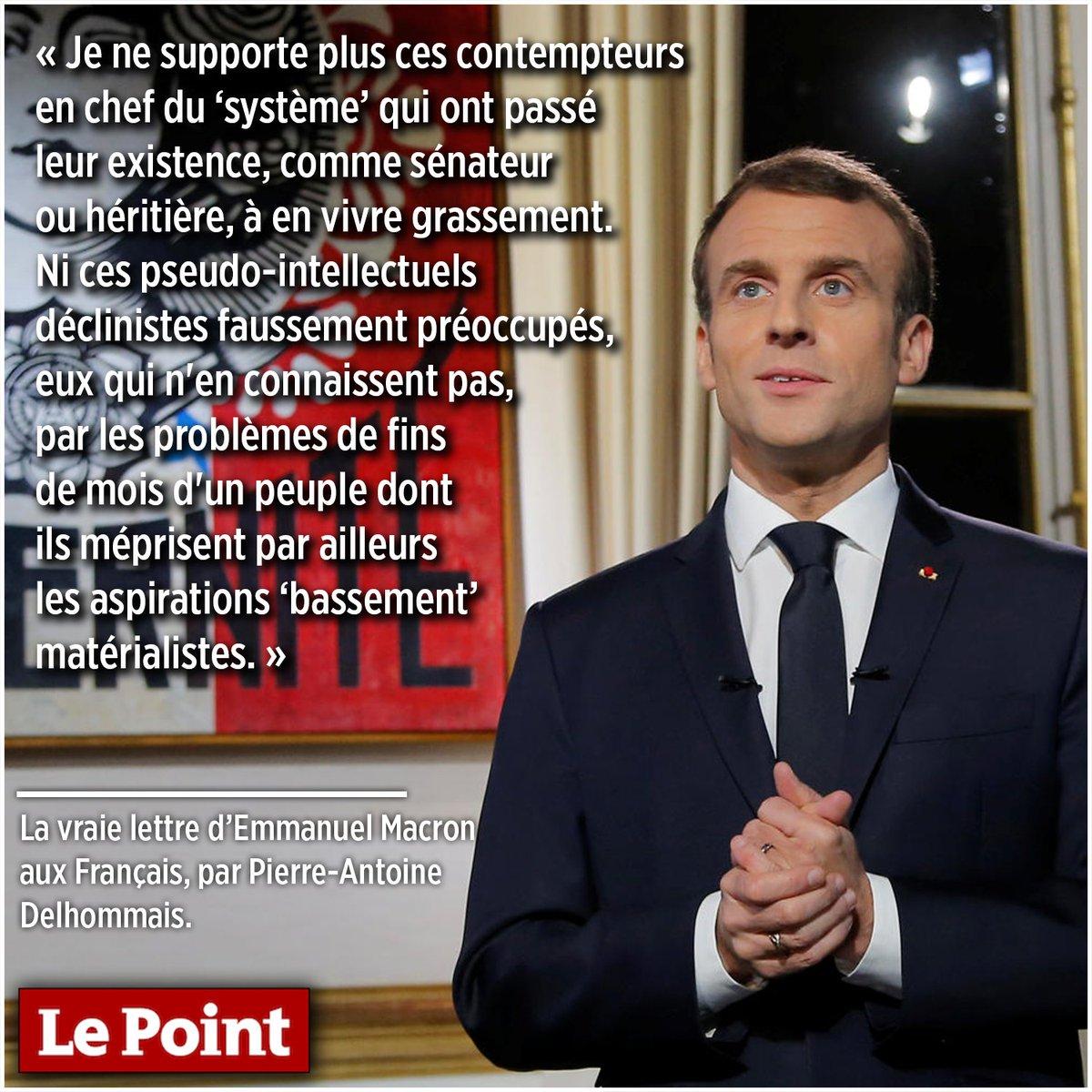 La vraie lettre d'Emmanuel #Macron aux Français, par Pierre-Antoine Delhommais >> https://t.co/EzFySsgbCH