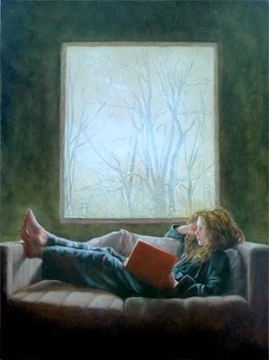 One person&#39;s #Snowmageddon  is another person&#39;s readathon.  #art-Laura den Hertog  #amreading #BookWorm #writing #weekend #snow #books<br>http://pic.twitter.com/OgqLA7TXpK