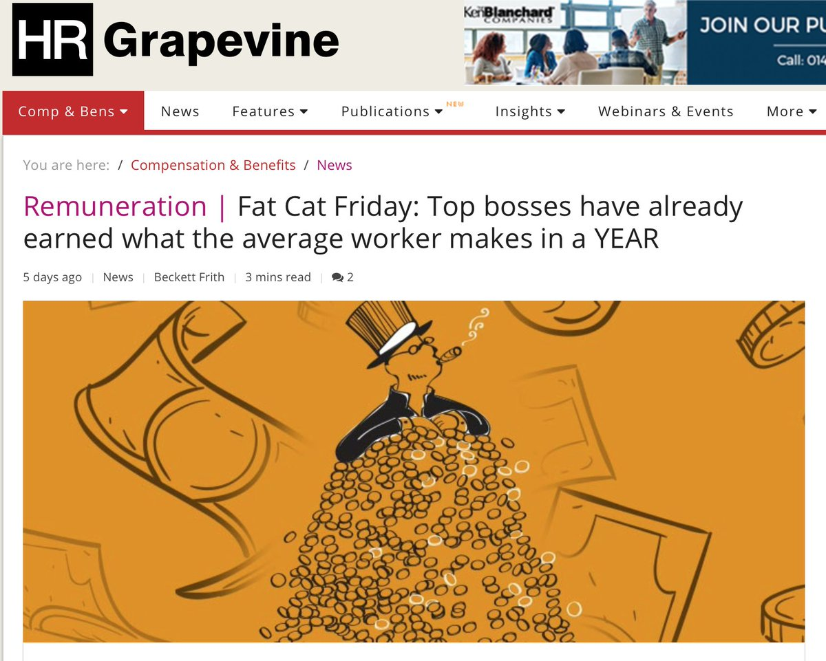 http:// ow.ly/PT0h30ng7X8  &nbsp;   With controversy about Executive's pay levels in the media, businesses need to look at their overall pay levels. It's important to keep employees motivated in an environment of low average pay increases. #remuneration #reward #fatcatfriday #HR<br>http://pic.twitter.com/wxTNoyP30H