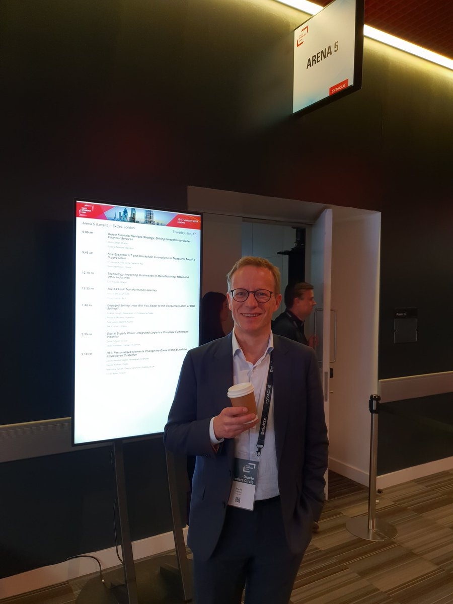 Interested in digitising your supply chain? Come and join Mads Madsbjerg Hansen from @FLSmidth at 2.25pm in Arena 5, 3rd Floor. #OOWLON #SupplyChain #OracleConsulting <br>http://pic.twitter.com/Tb091Pne8u