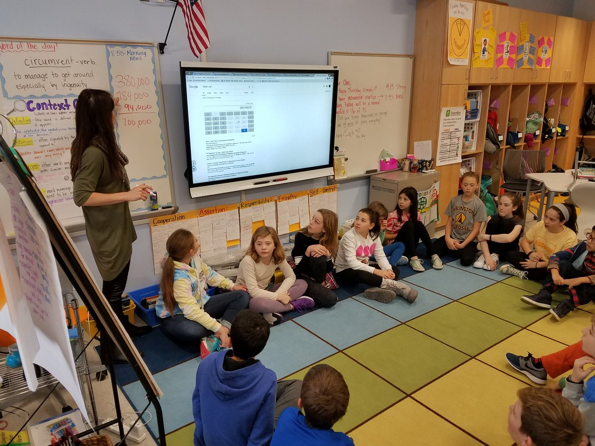 Mrs. <a target='_blank' href='http://twitter.com/kaitlin_oby'>@kaitlin_oby</a>' s class used <a target='_blank' href='http://twitter.com/DiscoveryAPS'>@DiscoveryAPS</a>'s square footage to calculate that Americans eat about 8.5 Discovery's-floors worth of pizza a day! <a target='_blank' href='https://t.co/441meQOpZz'>https://t.co/441meQOpZz</a>