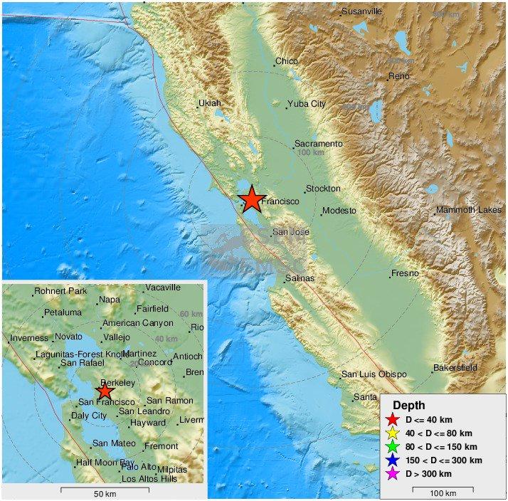 Felt #earthquake (#sismo) M3.5 strikes 19 km NE of San Francisco (#California) 3 min ago. Please report to:  https://t.co/MYHtJF9G0Z