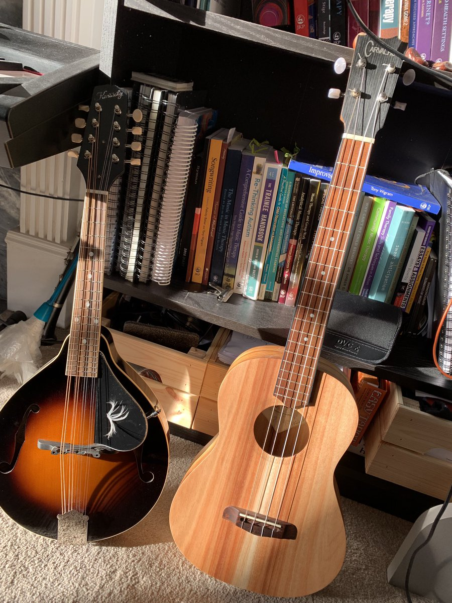 My mandolin has a new companion #baritoneukulele <br>http://pic.twitter.com/HhI6D84CTO