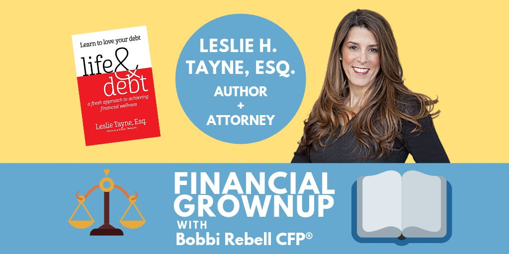 Just like #mariekondo says thank you to items that we discard, @LeslieHTayneEsq says #thankyou to #debt. Find out why. https://apple.co/2QVCP8u  @ApplePodcasts or search #financialgrownup #podcast everywhere! #savings #debtfree #investing #financialeducation #money #KonMarie