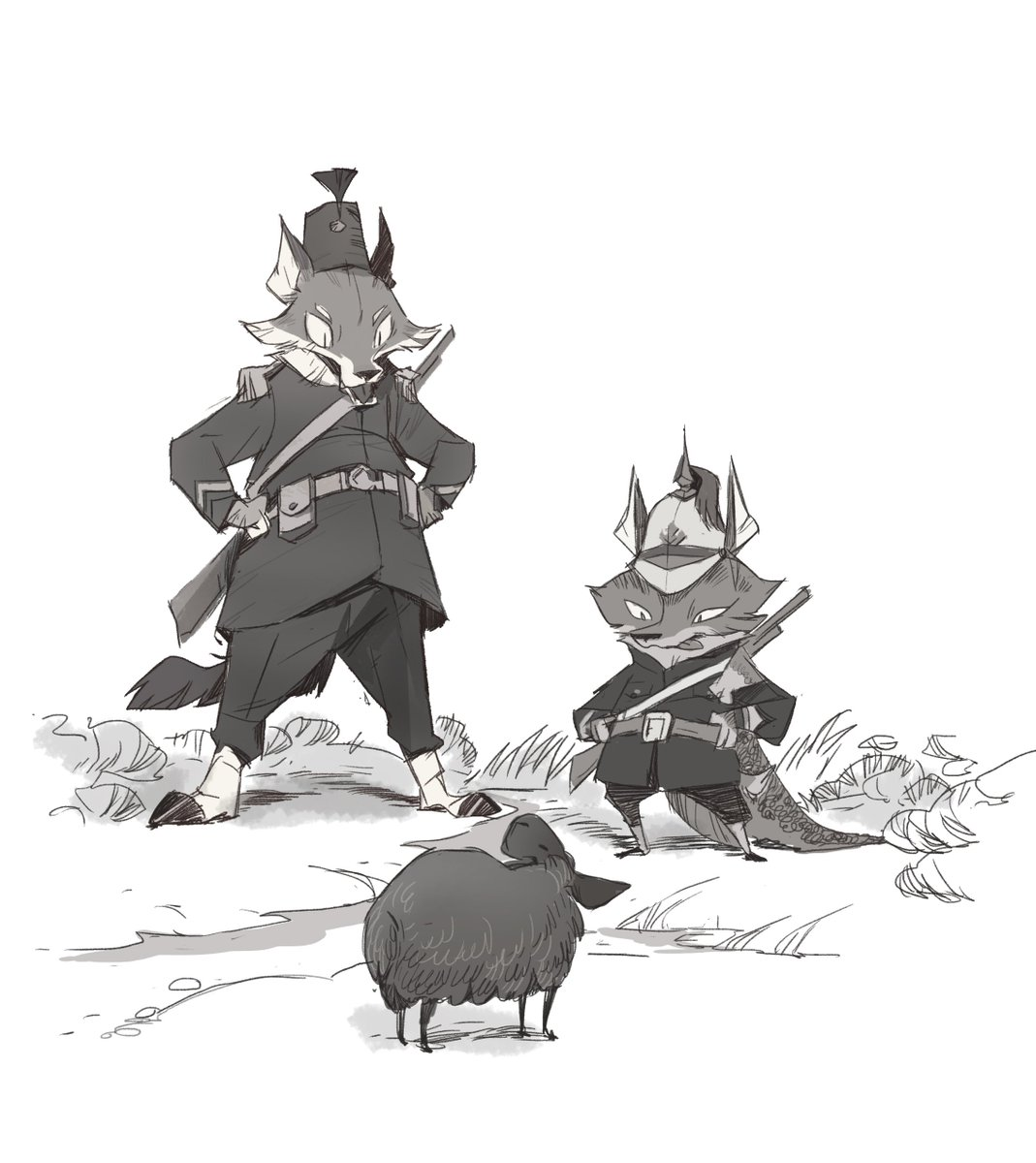 The Colonist(s)  Inspired from 19th century illustration during the time of colonization in southeast asia. <br>http://pic.twitter.com/iKh1HBp6Im