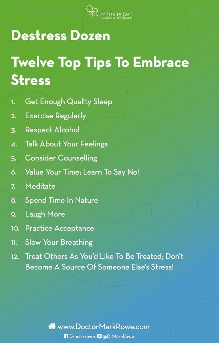 How to embrace #stress #toptips #ThursdayThought