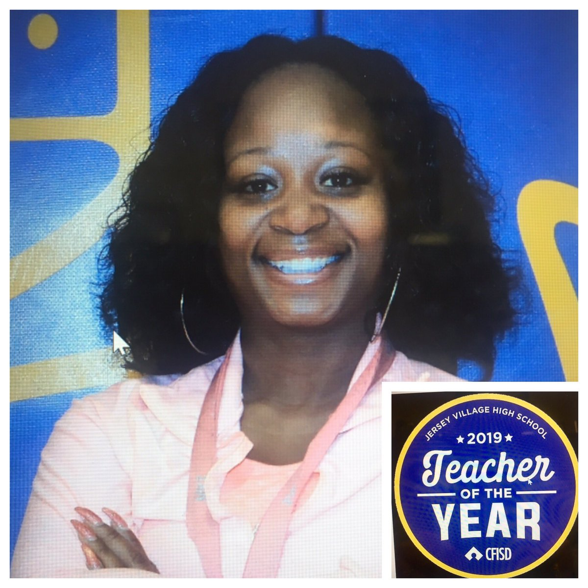 Jersey Village High School congratulates Crystal Day!  She has been selected as our 2019 Teacher of the Year.<br>http://pic.twitter.com/C506FHeUan