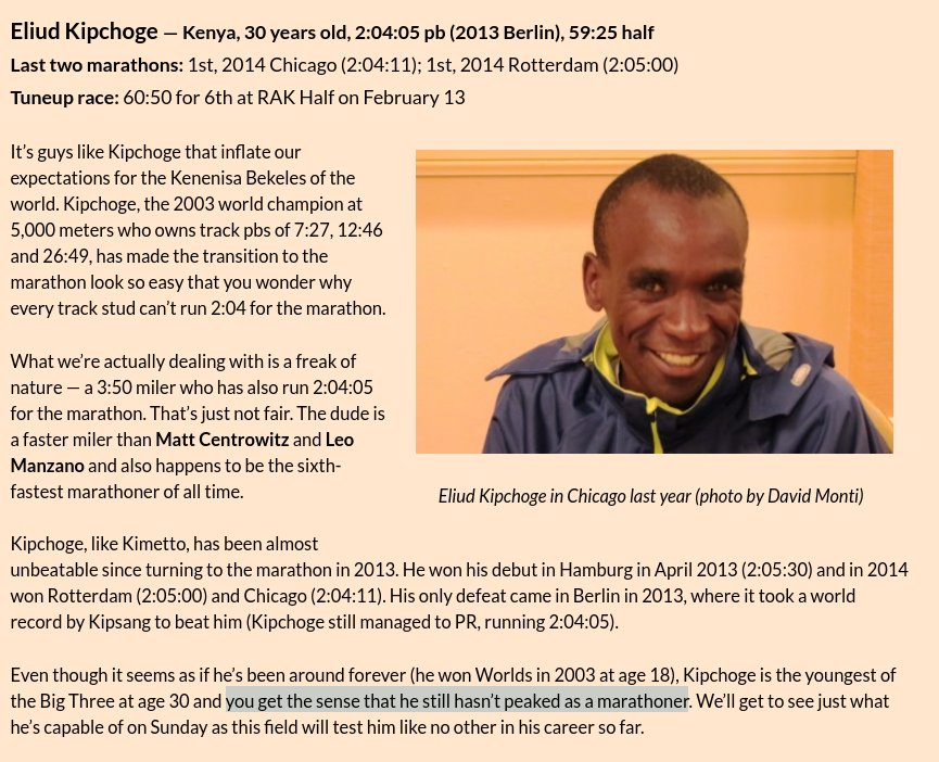 Jonathan Gault On Twitter With Eliud Kipchoge Returning For His
