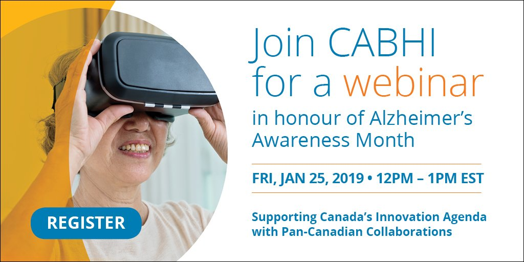 Join us to hear presentations from CABHI project leads about how they're supporting Canada's #innovation agenda through project partnerships. Learn how collaborations through CABHI's innovation pipeline are improving healthcare for seniors + caregivers: https://bit.ly/2Covrxj