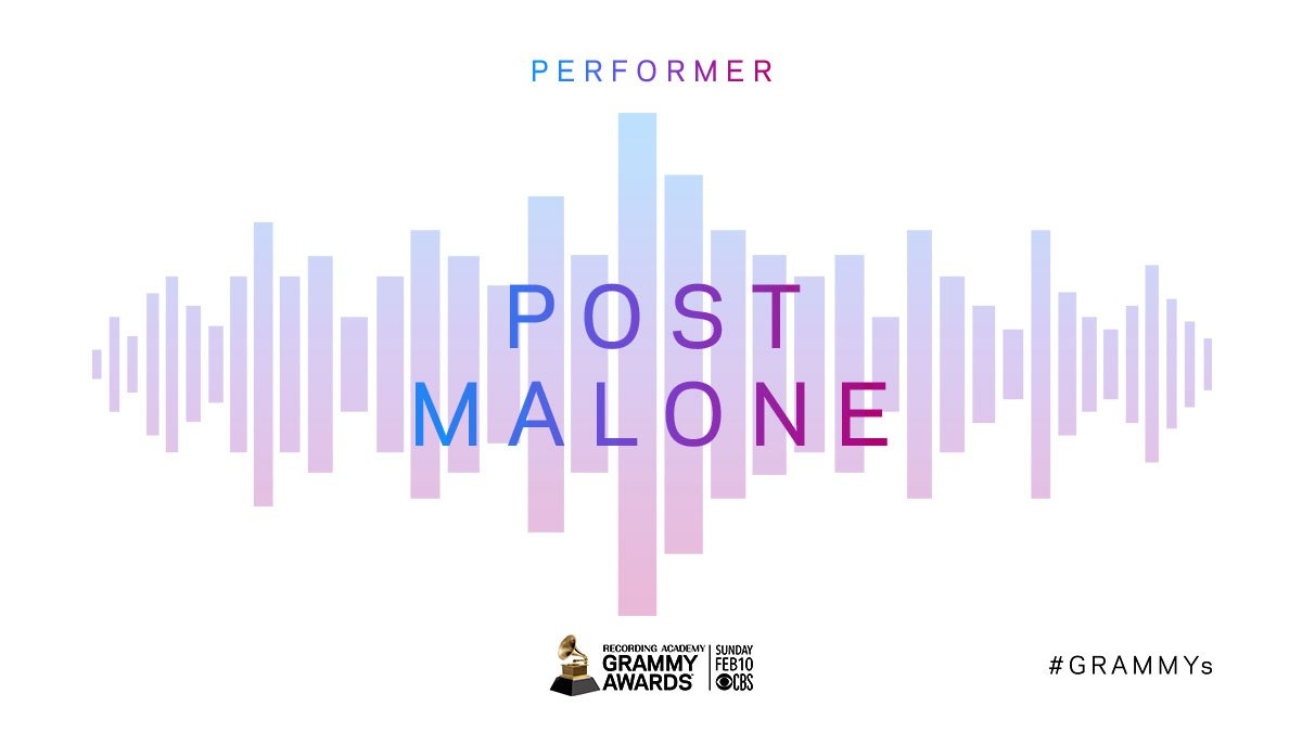 First-time nominee @PostMalone received four nominations, including  Record Of The Year and Album Of The Year!   He will perform at the #GRAMMYs Feb. 10! 🙌 http://grm.my/2RKVh8v