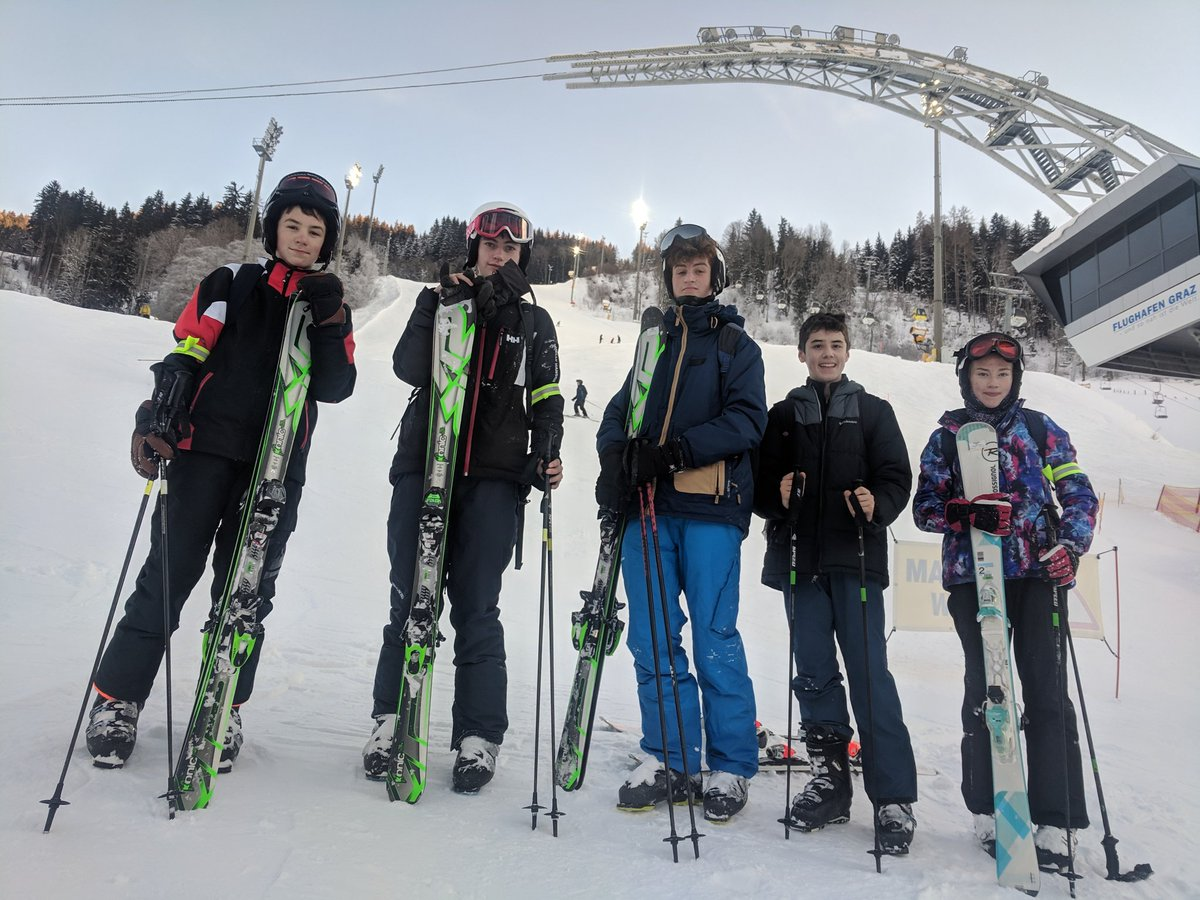 Schladming final run - these beginners have just completed the World Cup run.  We've never had a group make such progress.  Well done to them.