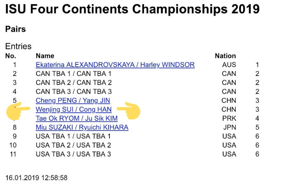 sui/han back on a competition entry list FEELS RIGHT FEELS ORGANIC <br>http://pic.twitter.com/e5whwZrFCX