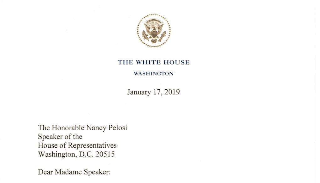 READ: President Trump's letter to Speaker Nancy Pelosi https://t.co/FM9m6f05h2