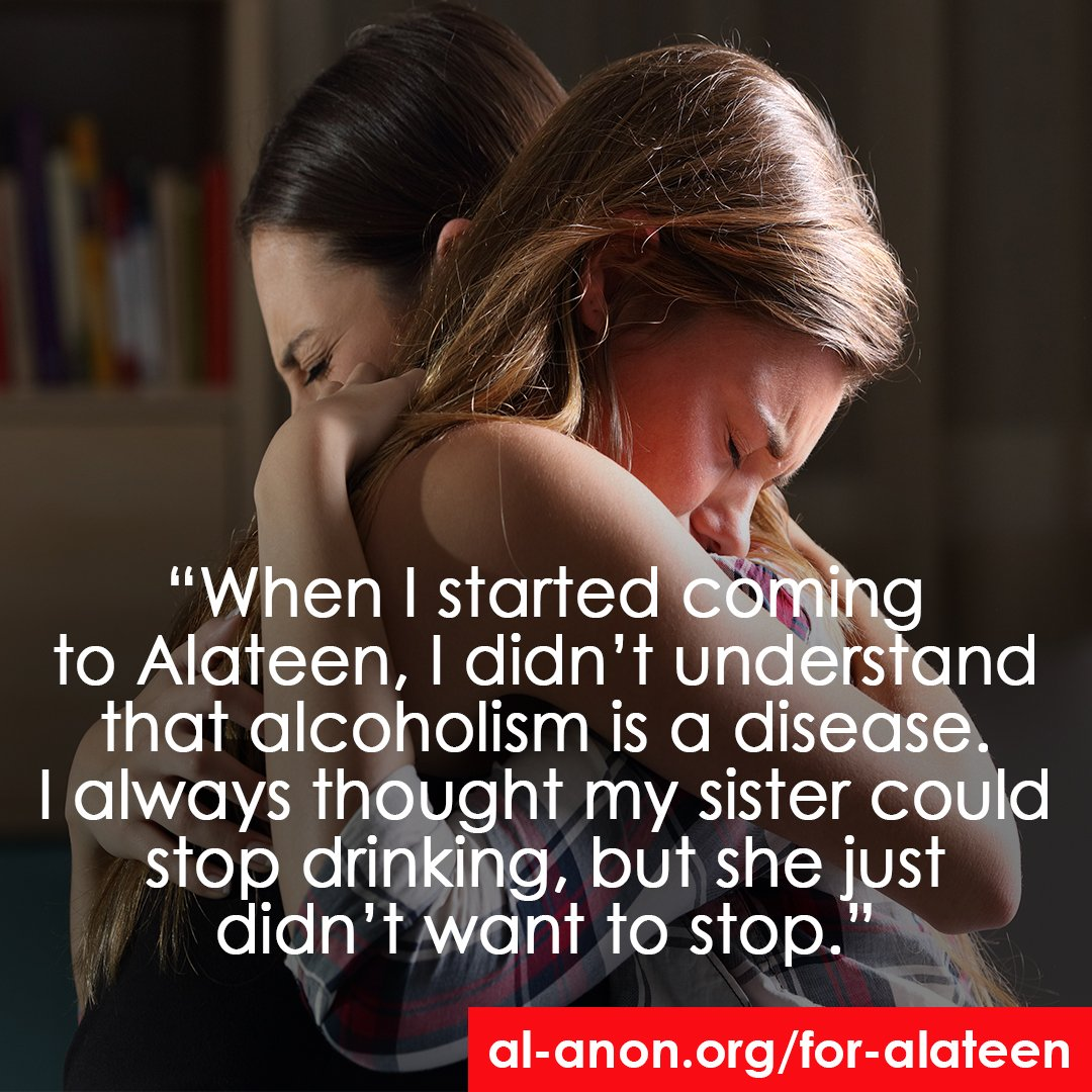 Alateen is for teens who have been affected by the family disease of alcoholism, goo.gl/vZcXAM.