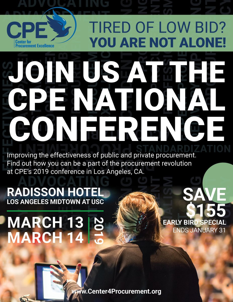 Center for Procurement Excellence Conference March 13-14