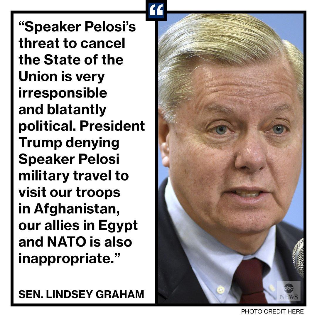 NEW: Sen. Lindsey Graham: 'One sophomoric response does not deserve another.' https://t.co/NF3AYDzt4D