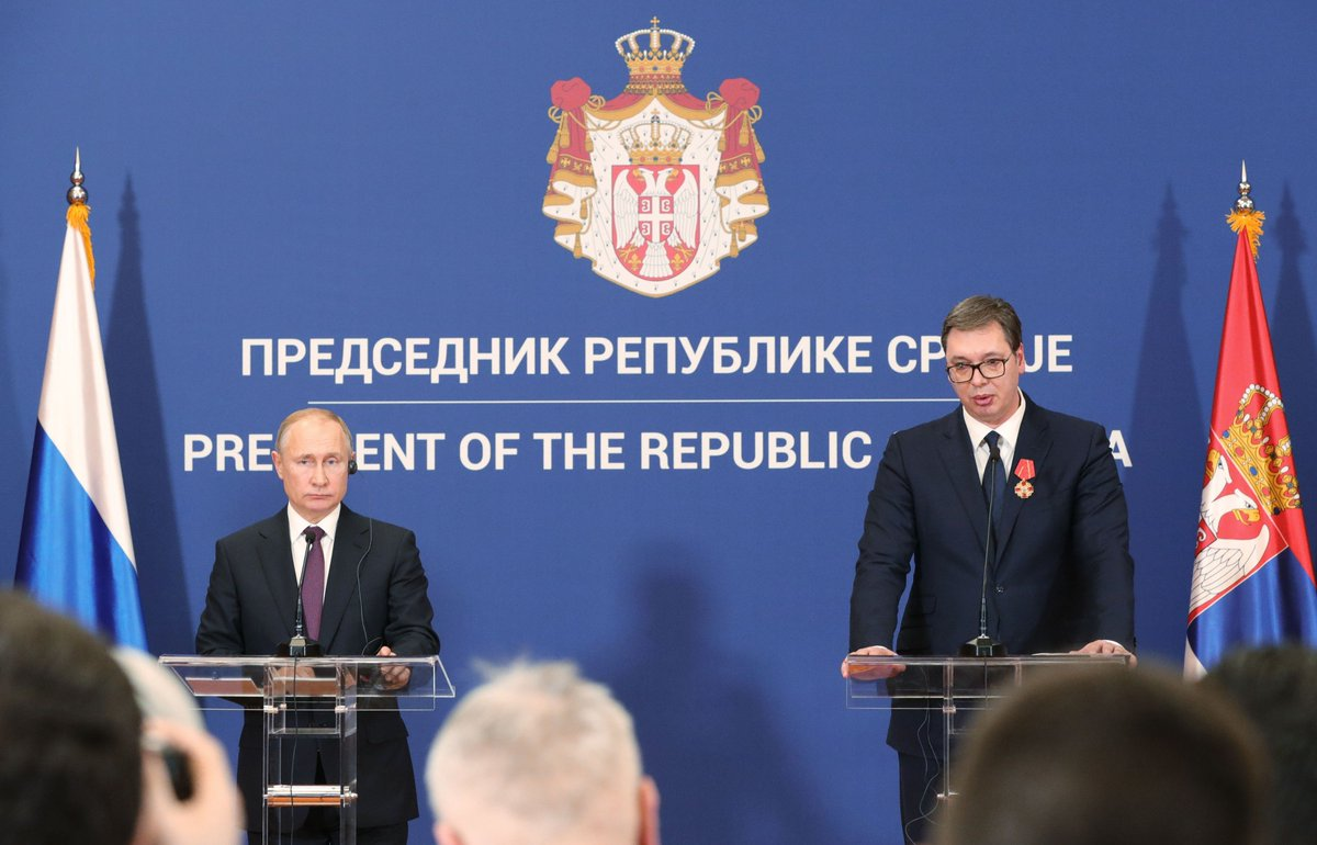 #Belgrade: news conference following Russian-Serbian talks https://t.co/0S3pVota3B