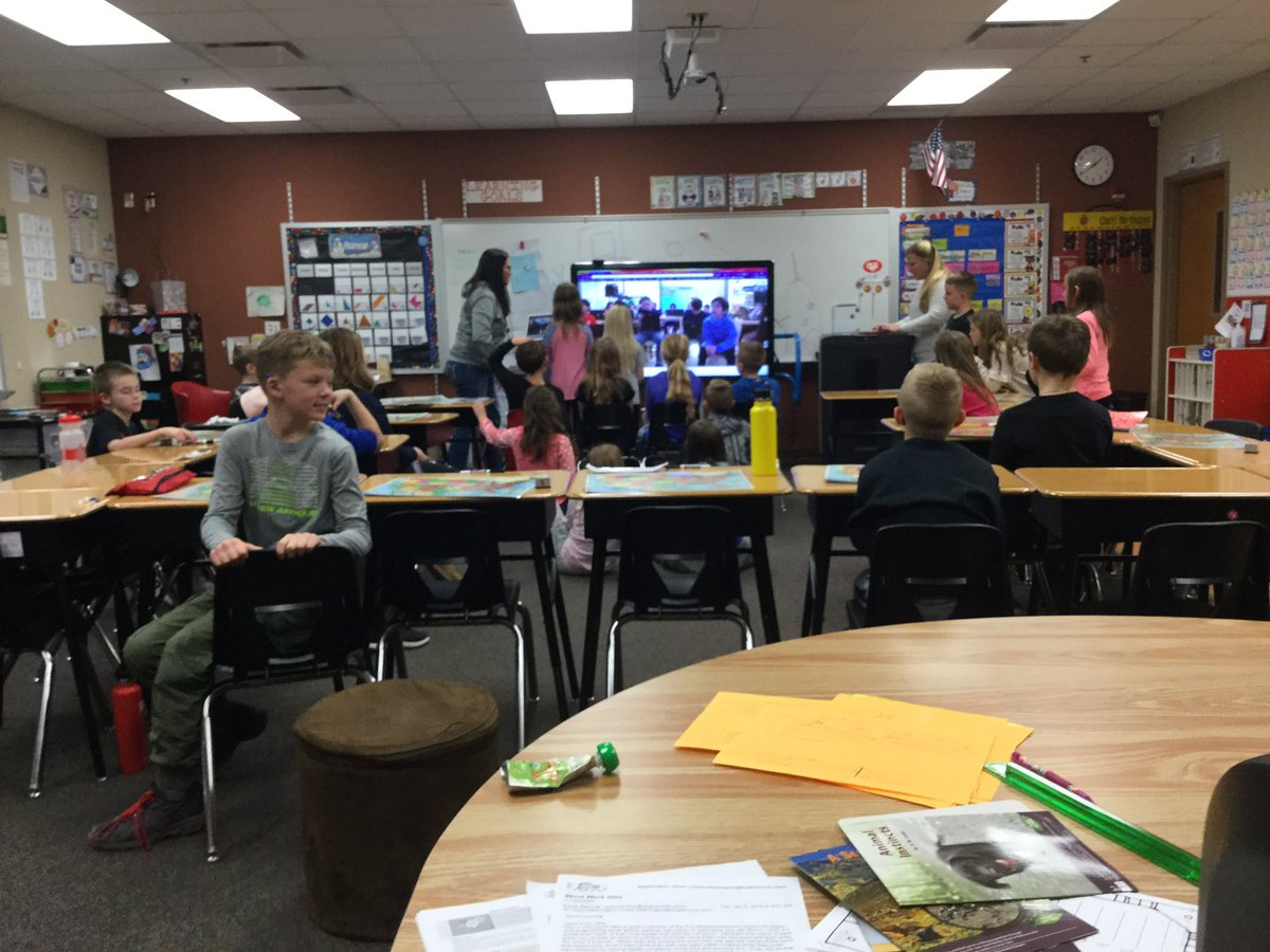 Today we did our first #mysteryhangout with @trevordayschool in Manhattan, New York!  Thanks for a wonderful experience! We learned so much!#dcgexcellence #stepoutsidetheclassroom