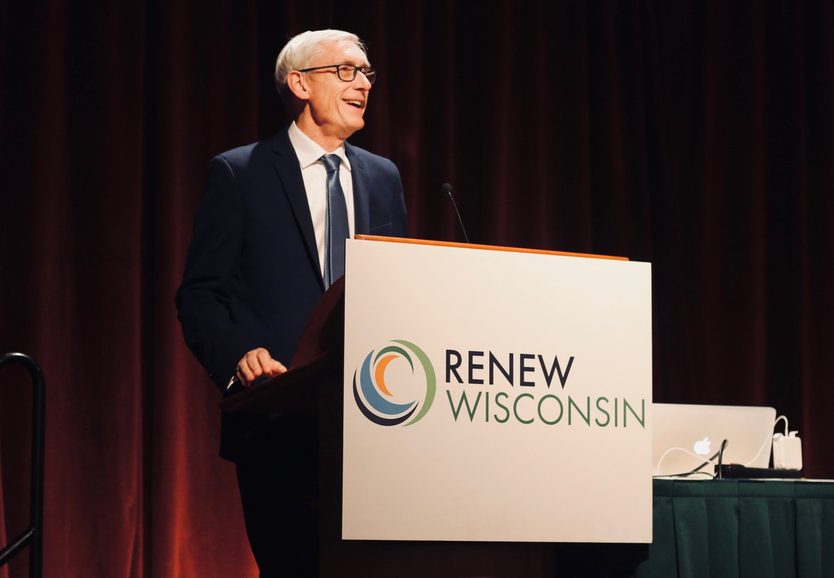 For too long, our state has ignored climate change and the importance of renewable energy. That's changing. With partners like the leaders at @RENEW_Wisconsin, we'll get our state on track for renewable energy innovation. Thank you for having me this morning! <br>http://pic.twitter.com/HRWz8XKAJe