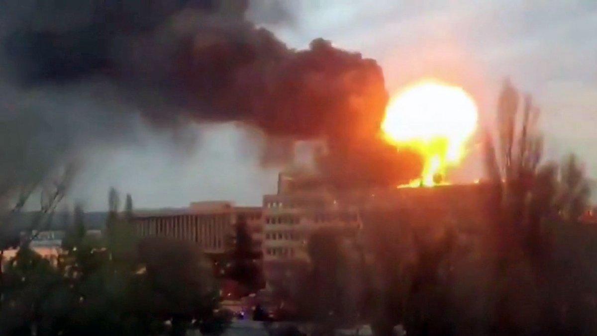 heftige explosion
