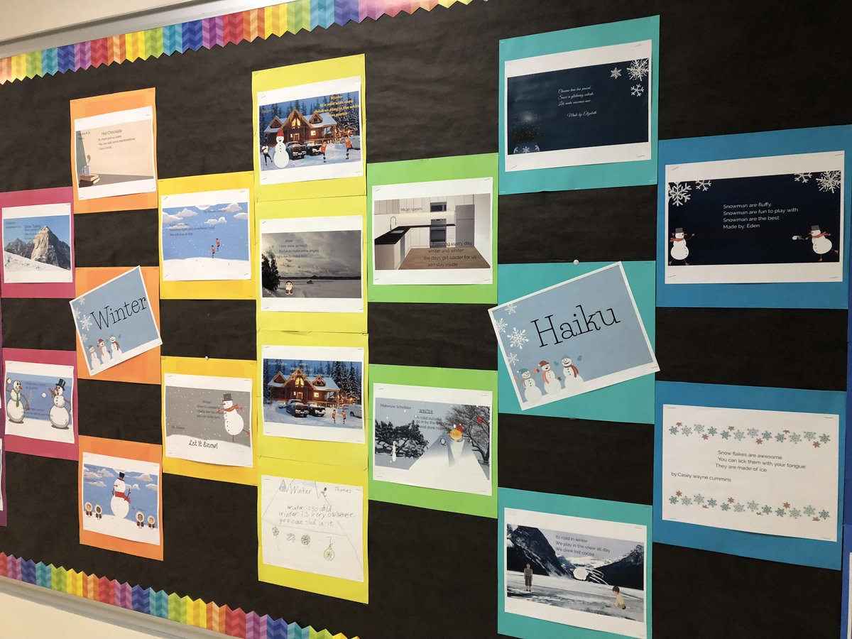 Colorful splash of student creativity. A Buncee Haiku! @Buncee #GESedtech