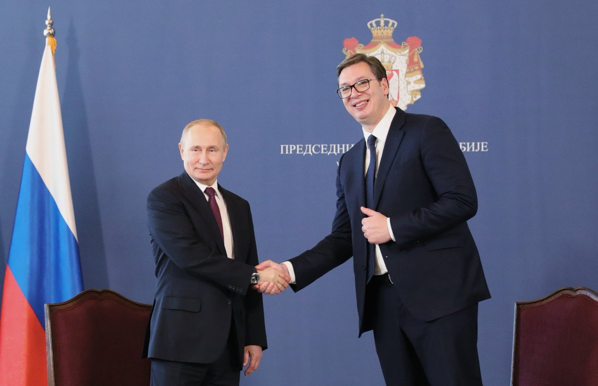 The Palace of Serbia was the venue for talks between Vladimir Putin and President of Serbia Aleksandar Vucic  https://t.co/LpxZMEjfpJ