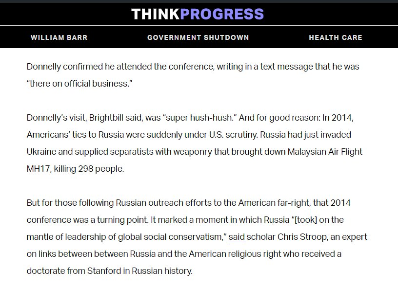 "The ties between sanctioned Russian officials and America's largest right-wing homeschool group (HSLDA) date to at least 2014, when the HSLDA spoke at the controversial 2014 ""family planning"" conference in Russia. https://thinkprogress.org/americas-biggest-right-wing-homeschooling-group-has-been-networking-with-sanctioned-russians-1f2b5b5ad031/ …"