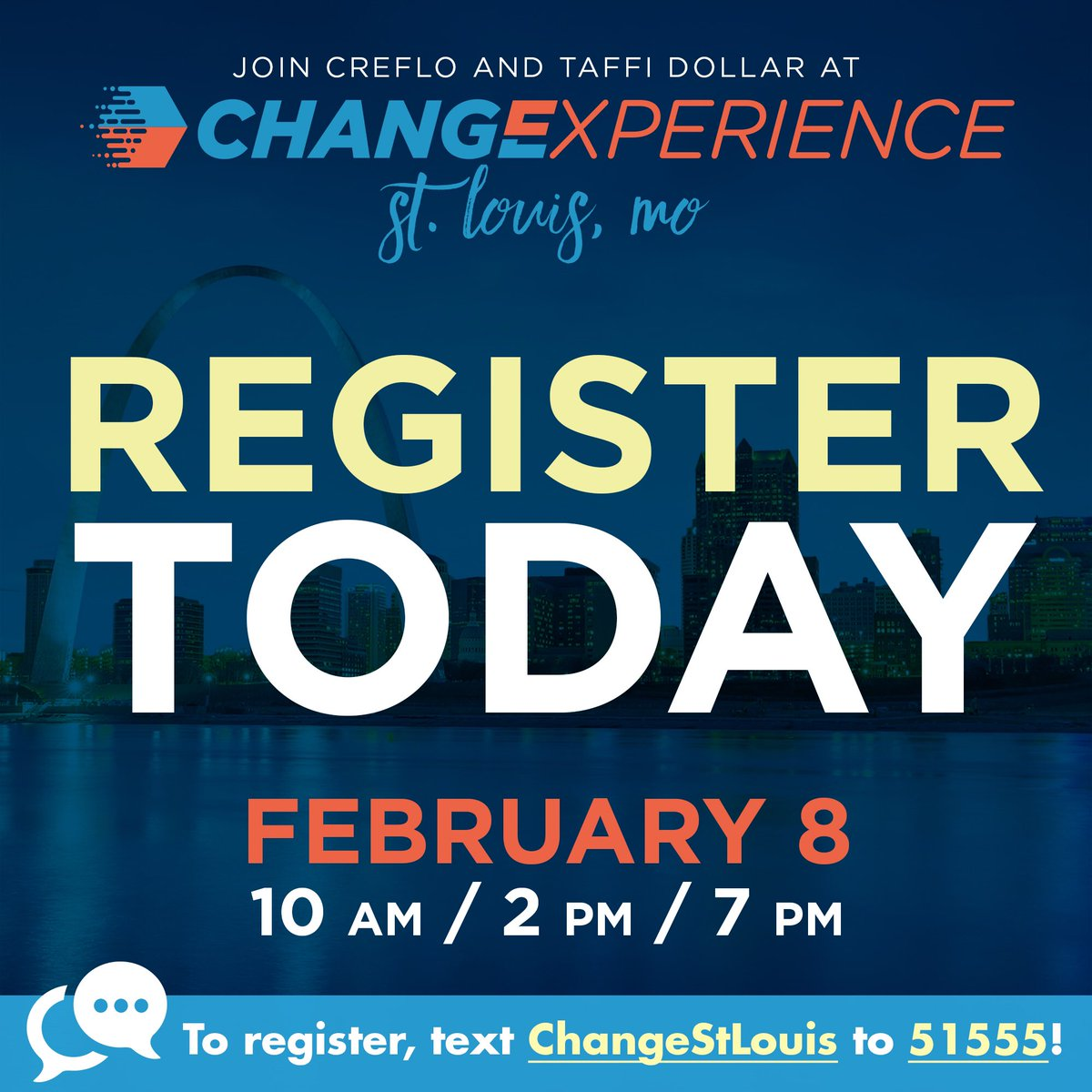 Believe what you've heard! Change Experience 2019 will be on February 8, in St Louis. Don't miss out! Click here to register …https://changeexperience2019stlouis.eventbrite.com  #ChangeExperience2019 #WorldChangers #WorldChangersChurchInternational