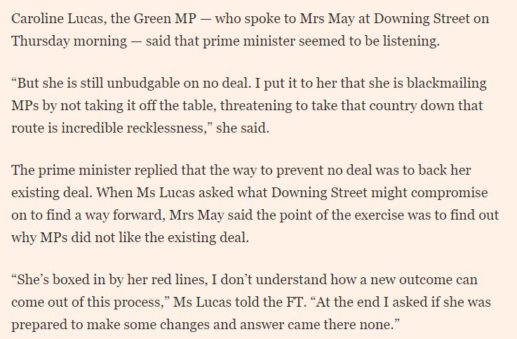 the best explanation of how May is still flogging Plan A probably came fro @CarolineLucasm , here's what she sahttps://t.co/B10Djlgl2uid