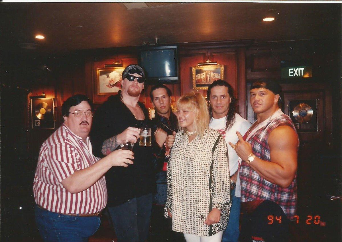 #TBT 1994 @HardRock International #Treasure with #TheBoys #WWF #WWE #Superstars #RIP #PaulBearer We miss u! @theundertaker #123Kid @TheRealXPac @BretHart & @NativeTatanka @WWE @WWEUniverse #WWEUniverse #NativeAmerican #Tatanka #Indigenous
