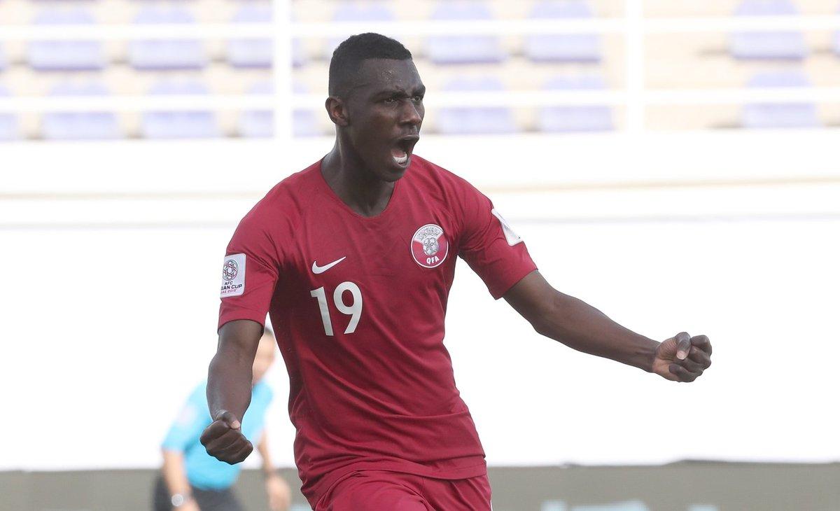 هدف قطر الأول في شباك السعودية في كأس آسيا