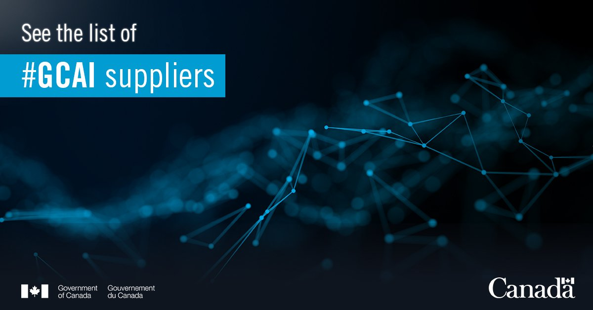 Thanks to consultations with industry, #GC better understands the #AI ecosystem of services. Want to know who qualified as #GCAI suppliers? Check out the list: http://ow.ly/jx7T30nkQs9