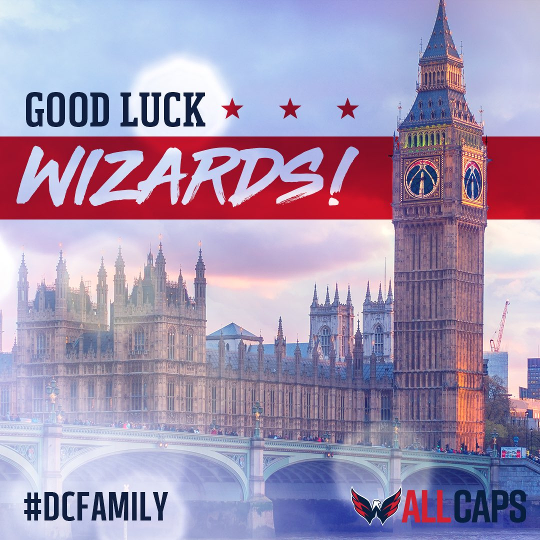 Good luck in London, @WashWizards! #NBALondon   #ALLCAPS | #DCFamily