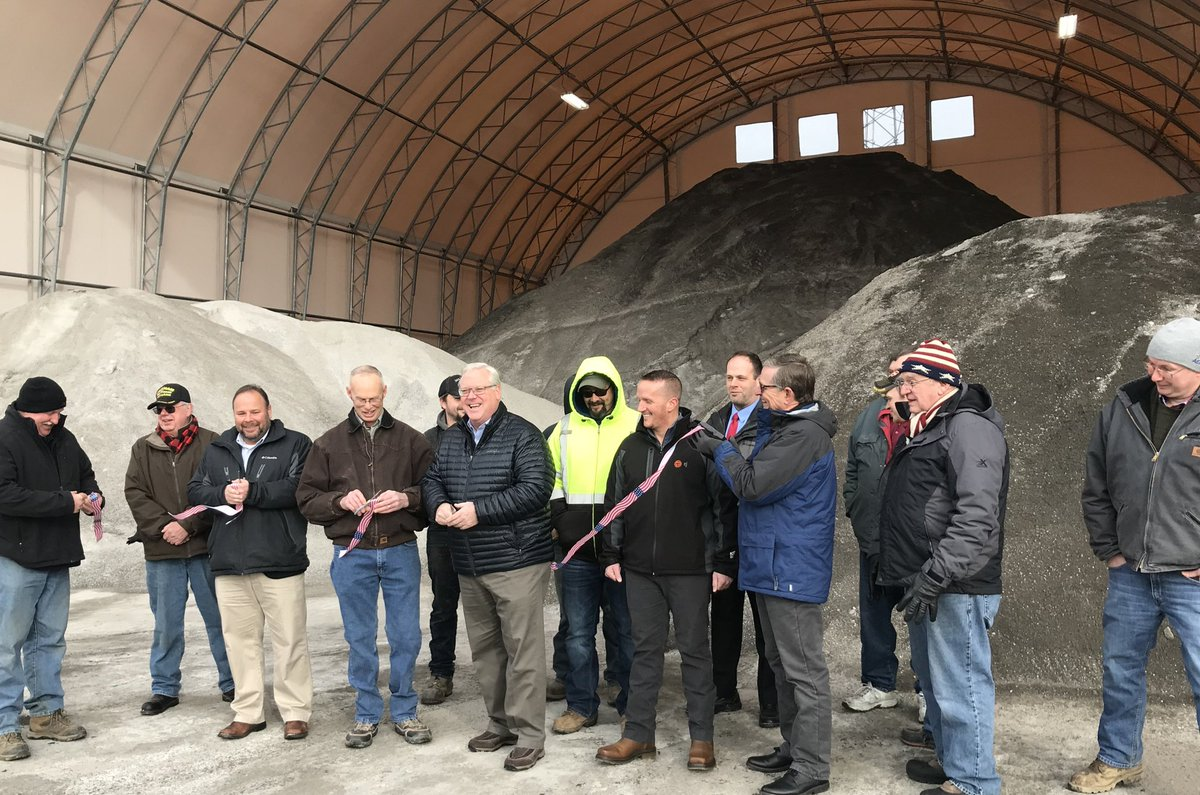 Town of Catlin unveils brand new salt storage facility ahead of winter storm