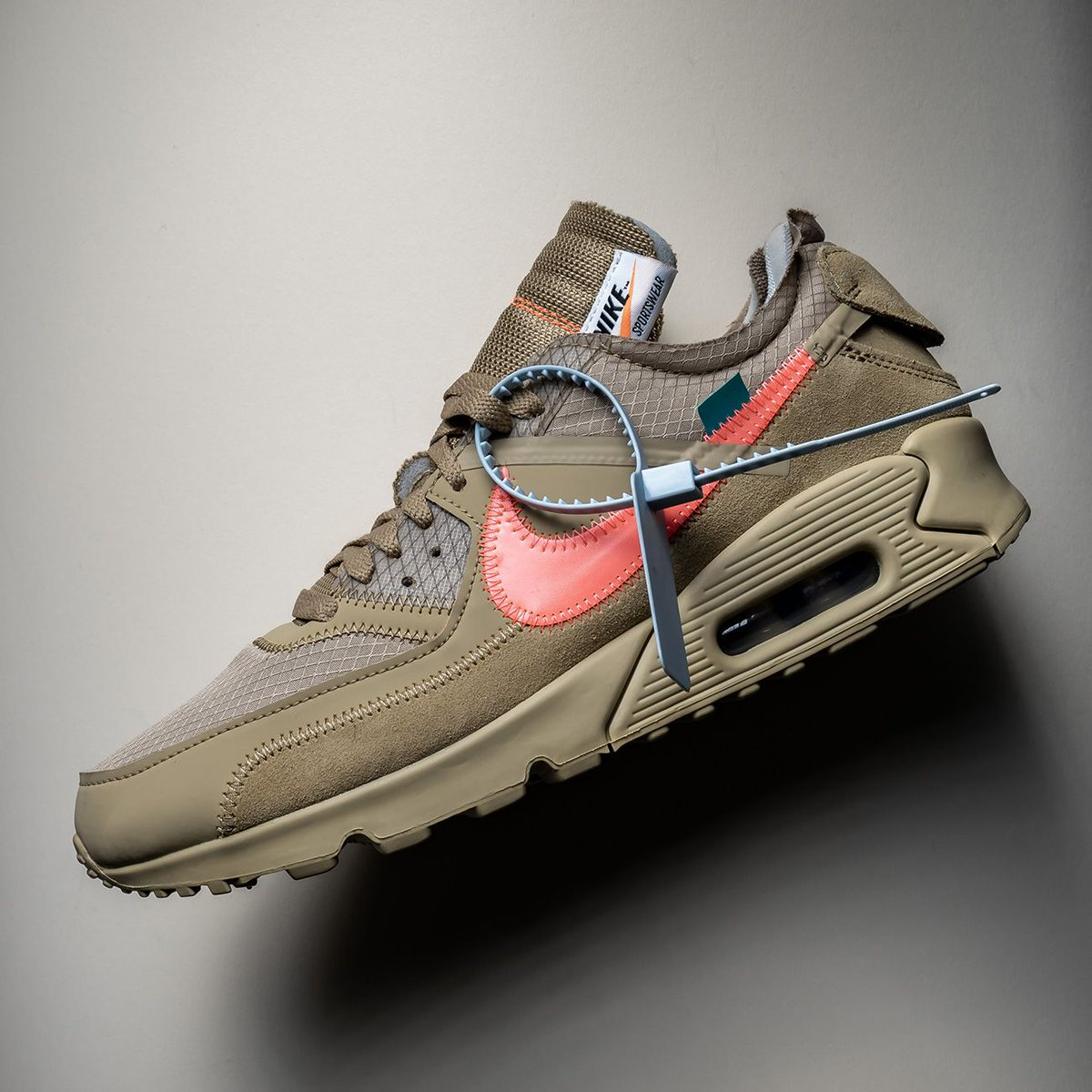 """cd8bab6c36 ... Nike Air Max 90, Virgil Abloh finally presented a new colorway this  winter. The """"Desert Ore"""" edition was worth the anticipation, featuring a  look ..."""