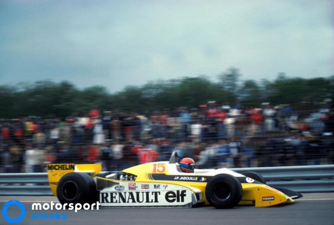 Our #ThrowbackThursday race suggestion comes from @RutgerLamers, who went for the French GP of 1979. This was both the first win for Jean Pierre Jabouille and the first win for a Turbocharged engine. But everybody remembers the battle for second between Villeneuve and Arnoux. Foto
