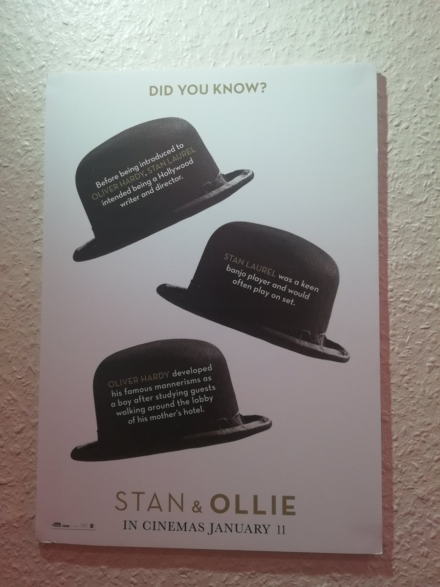I went to see @StanAndOllie today. And it&#39;s an absolutely astonishing piece of cinema. If you love Laurel &amp; Hardy as much as I do, you&#39;ll adore this love letter to the last years of their life.  5/5 Stars!  100% Recommend to all Comedy Lovers!   #StanAndOllie #LaurelAndHardy<br>http://pic.twitter.com/D44HCtfbwG