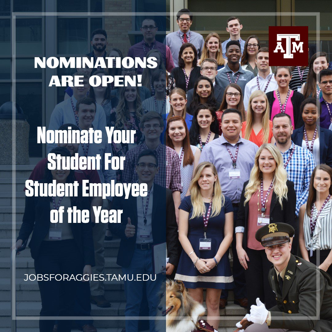 Jobs For Aggies On Twitter Dont Forget To Nominate Your