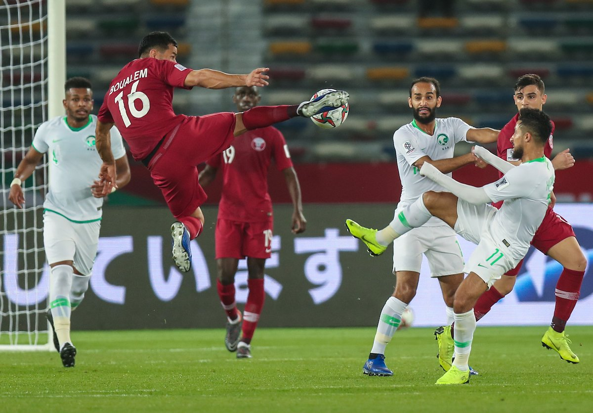 هدف قطر الثاني في مرمى السعودية في كأس آسيا